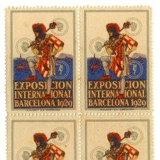 Timbres: VIÑETA BLOQUE DE CUATRO EXPOSICIÓN INTERNACIONAL BARCELONA 1929. Lote 42878403