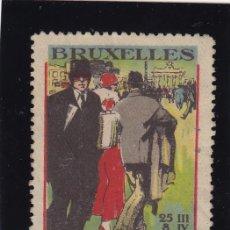 Sellos: VIÑETA BRUSELAS - BRUXELLES .6º FOIRE COMMERCIALE 1925 . USADA . Lote 43040787
