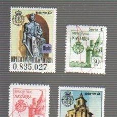 Timbres: SET DE 4 VIÑETAS O TIMBRES DE LA DIPUTACION PROVINCIAL DE NAVARRA. Lote 43866906