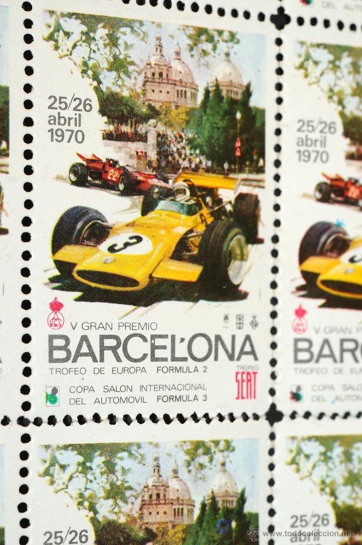 Sellos: V GRAN PREMIO BARCELONA TROFEO DE EUROPA FORMULA 2 TROFEO SEAT 1970. - Foto 4 - 45609840