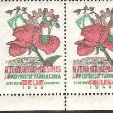 Sellos: VIÑETAS REUS 1948 II FERIA OFICIAL DE MUESTRAS PROVINCIA TARRAGONA ----TIRA ENTERA----. Lote 46497614