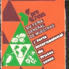 Sellos: VIÑETA REUS 1984 FERIA OFICIAL DE MUESTRAS. Lote 46503060