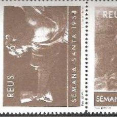 Sellos: VIÑETAS REUS 1958 SEMANA SANTA -----TIRA COMPLETA-----. Lote 270217418