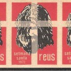 Sellos: VIÑETAS REUS 1972 SEMANA SANTA ----TIRA COMPLETA-----. Lote 46558832