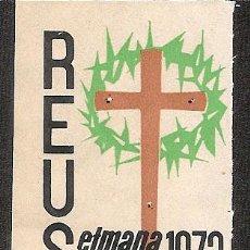 Sellos: VIÑETA REUS 1973 SEMANA SANTA. Lote 46532863