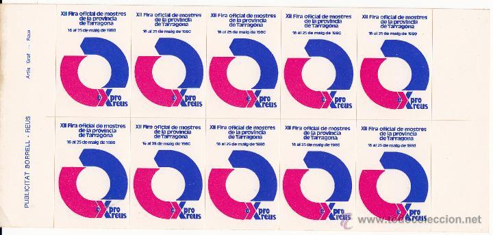 VIÑETAS REUS 1980 XII FERIA OFICIAL DE MUESTRAS DE LA PROVINCIA DE TARRAGONA---TIRA COMPLETA---- (Sellos - Extranjero - Viñetas)