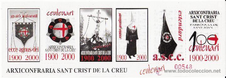 VIÑETA REUS AÑO 2000 - CENTENARI ARXICONFRARIA SANT CRIST DE LA CREU (Sellos - Extranjero - Viñetas)