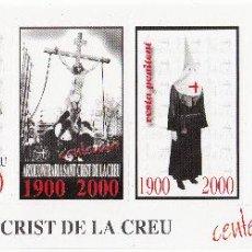 Sellos: VIÑETA REUS AÑO 2000 - CENTENARI ARXICONFRARIA SANT CRIST DE LA CREU. Lote 49243773