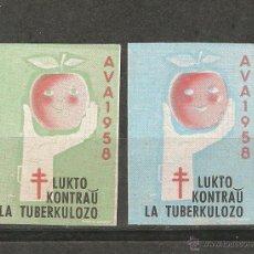 Sellos: LOTE A2- SELLOS VIÑETAS VENDRELL AÑO 1958 NUEVAS CON GOM-A AVA CONTRA TUBERCULOSIS. Lote 206397455