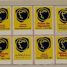 Sellos: FERIA DE HANNOVER - 1966 - LOTE DE 8 VIÑETAS DIFERENTES. Lote 52013314