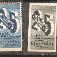 Sellos: LOTE C2-SELLOS VIÑETAS BARCELONA AÑO 1957. Lote 54490080