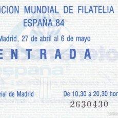 Sellos: ENTRADA EXPOSICION MUNDIAL DE FILATELIA. Lote 56541396