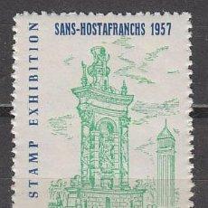 Sellos: VIÑETA, 1957, FUENTE PLAZA ESPAÑA BARCELONA, EXPOSICION DE SANS, NUEVA ***. Lote 57258221