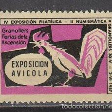 Sellos: 1957, VIÑETA DE GRANOLLERS, EXPOSICION AVICOLA, NUEVA ***. Lote 57305054