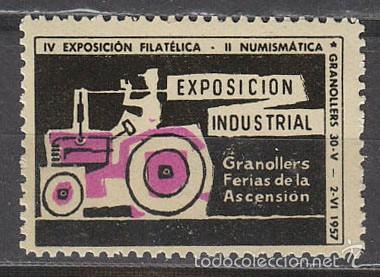 1957, VIÑETA DE GRANOLLERS, EXPOSICION INDUSTRIAL, NUEVA *** (Sellos - Extranjero - Viñetas)