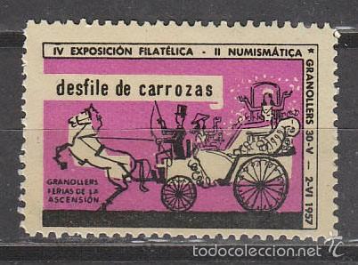 1957, VIÑETA GRANOLLERS, DESFILE DE CARROZAS, NUEVA *** (Sellos - Extranjero - Viñetas)