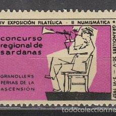Sellos: 1957, VIÑETA GRANOLLERS, CONCURSO REGIONAL DE SARDANAS, NUEVA ***. Lote 57305158