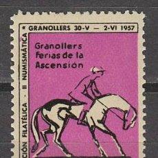 Sellos: 1957, VIÑETA GRANOLLERS, PRUEBAS HIPICAS, NUEVA ***. Lote 57305177