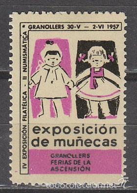 1957, VIÑETA GRANOLLERS, EXPOSICION DE MUÑECAS, NUEVA *** (Sellos - Extranjero - Viñetas)