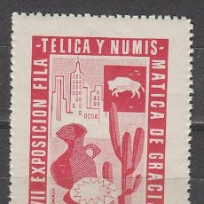 Sellos: VIÑETA 1956, EXPOSICION DE GRACIA, NUEVA ***. Lote 57365553