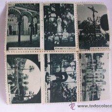 Sellos: LOTE DE 6 VIÑETAS CON FOTOS TURISTICAS DE SEVILLA DE SERRANO IMPRESAS POR FOURNIER. AÑOS 50. Lote 61344631