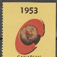 Sellos: .1953. CANADA.VIÑETA . FERIA INTERNACIONAL DEL COMERCIO **.MNH .FIJ.(17-311). Lote 76420267