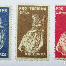 Sellos: MALLORCA. TRES VIÑETA S TURISTICAS ANTIGUAS. LOTE 0011. Lote 79014893