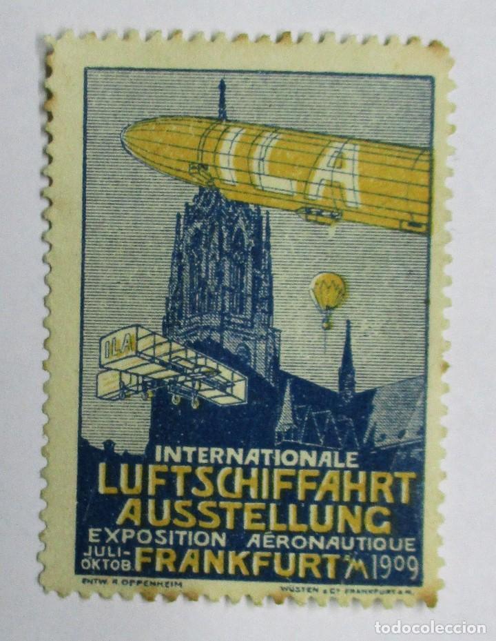ILA. EXPOSICIÓN AERONAUTICA DE FRANKFURT 1909. GRAF. ZEPPELIN. PRECIOSA VIÑETA. LOTE 0021 (Sellos - Extranjero - Viñetas)