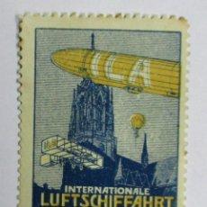 Sellos: ILA. EXPOSICIÓN AERONAUTICA DE FRANKFURT 1909. GRAF. ZEPPELIN. PRECIOSA VIÑETA. LOTE 0021. Lote 79693129