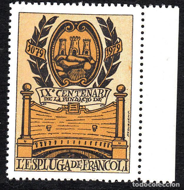 VIÑETA L'ESPLUGA DE FRANCOLÍ -TARRAGONA- IX CENTENARI DELA FUNDACIÓ (Sellos - Extranjero - Viñetas)