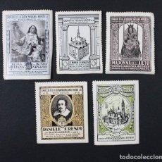 Sellos: 5 VIÑETAS ANTIGUAS ITALIANAS TEMATICA RELIGIOSA, NUEVAS SIN USAR, VIÑETA . Lote 87420744