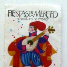 Briefmarken - VIÑETA FIESTAS DE LA MERCED. BARCELONA 1957. FESTIVALES DE OTOÑO. - 96462563