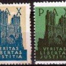 Sellos: PAX - VERITAS LIBERTAS JUSTITIA.,VIÑETAS. Lote 98921979