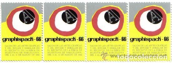 VIÑETAS CONMEMORATIVAS DE GRAPHISPACK (1966) (Sellos - Extranjero - Viñetas)