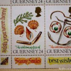 Sellos: SELLO GUERNSEY, BLOQUE, HOJA, THE WELCOMING FACE OF GUERNSEY 24, NUEVO, 1995. Lote 102342451