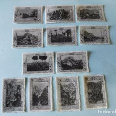 Sellos: LOTE DE 12 VIÑETAS MONTSERRAT 1929 (CON GOMA) TODAS DIFERENTES. Lote 102971411