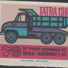 Sellos: LOTE N SELLOS VIÑETA TEMA COCHES 1967 AUTOMOVIL CMION. Lote 104597903