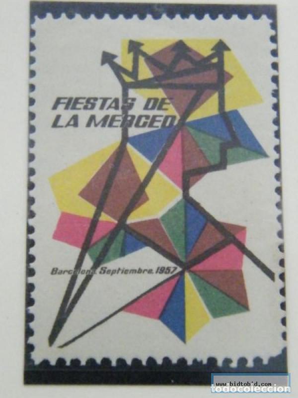 VIÑETA, BARCELONA, FERIA DE LA MERCED. 1957 . (Sellos - Extranjero - Viñetas)