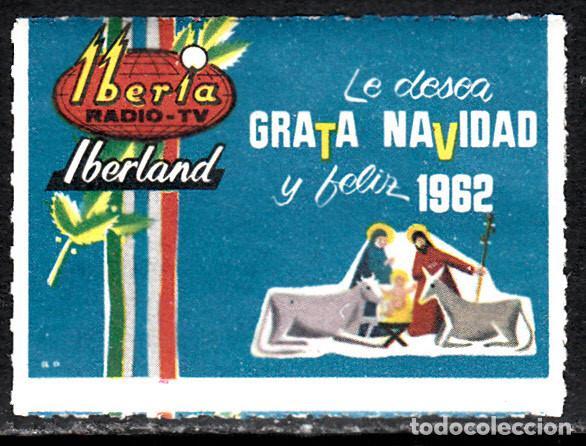 VIÑETA RADIO TV IBERIA IBERLAND - NAVIDAD 1962 (Sellos - Extranjero - Viñetas)