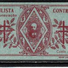 Sellos: CARNET VIÑETAS ANTITUBERCULOSOS DE BRASIL - AÑO 1929- LIGA PAULISTA. Lote 117558359