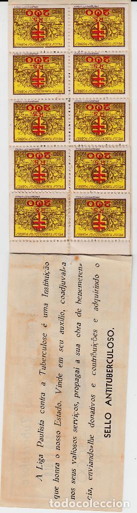 Sellos: carnet viñetas antituberculosos de BRASIL - año 1935-1936 - LIGA PAULISTA - Foto 2 - 117558683