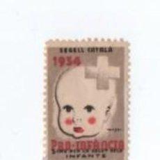Sellos: (ALB-TC-28) VIÑETA PRO INFANCIA 1934 SEGELL CATALA 5 CMS. Lote 121566379