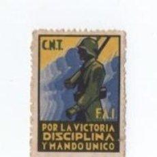 Timbres: VIÑETA CNT FAI POR LA VICTORIA DISCIPLINA Y MANDO UNICO. Lote 121575631