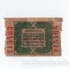 Sellos: (ALB-TC-28) VIÑETA SERVICIOSN PROVINCIALES DE ABASTECIMIENTO Y TRANSPORTES BARCELONA. Lote 121577519