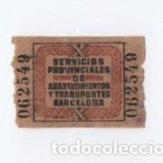 Timbres: (ALB-TC-28) VIÑETA SERVICIOSN PROVINCIALES DE ABASTECIMIENTO Y TRANSPORTES BARCELONA. Lote 121577527