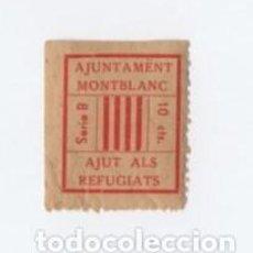 Sellos: (ALB-TC-28) VIÑETA AJUT ALS REFUGIATS AJUNTAMENT MONTBLAC 10 CTS. Lote 121578447