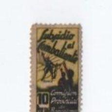 Sellos: (ALB-TC-28) VIÑETA SUBSIDIO AL COMBATIENTE COMISION PROVINCIAL DE BARCELONA 10 PESETAS. Lote 121578539