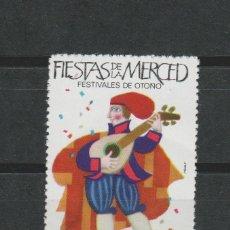 Sellos: LOTE A SELLOS VIÑETA FIESTAS DE LA MERCED BARCELONA 1967. Lote 138980276