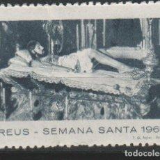 Sellos: LOTE A SELLOS VIÑETA SEMANA SANTA REUS 1960. Lote 236380590