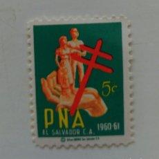 Sellos: VIÑETA EL SALVADOR, ANTI TUBERCULOSIS, 1960. Lote 126503728